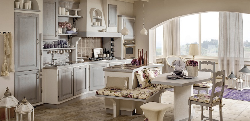 cucine in muratura country chic
